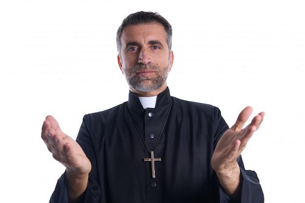 Priester öffnen die betenden arme Premium Fotos