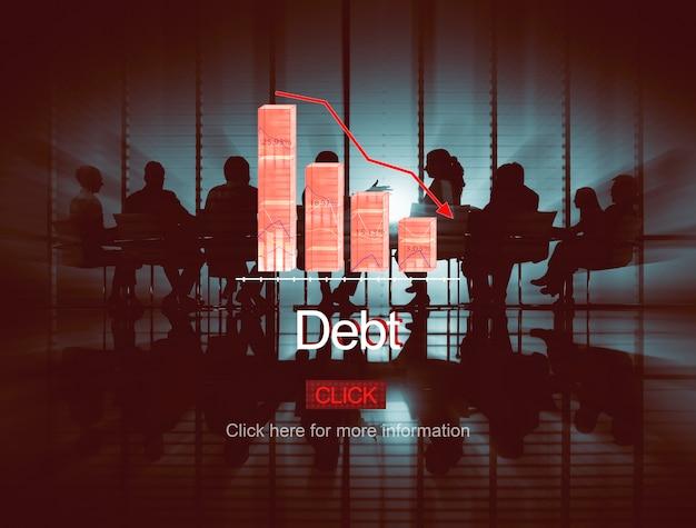 Probleme risiko deflation depression konkurs konzept Kostenlose Fotos