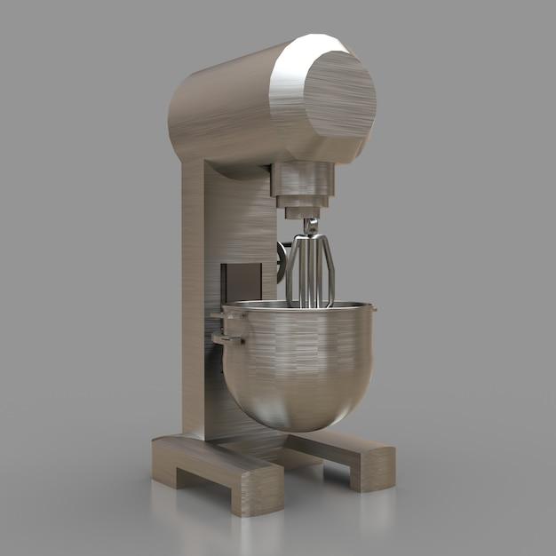 Professioneller mixer für restaurants, cafés und konditoreien. 3d-renderings. Premium Fotos