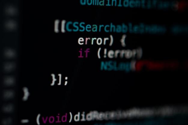 Programmierung code abstrakte technologie hintergrund der software-entwickler. Premium Fotos