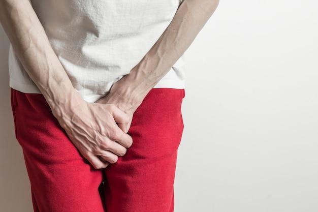 Prostatakrebs. vorzeitige ejakulation, erektionsprobleme, blase. Premium Fotos