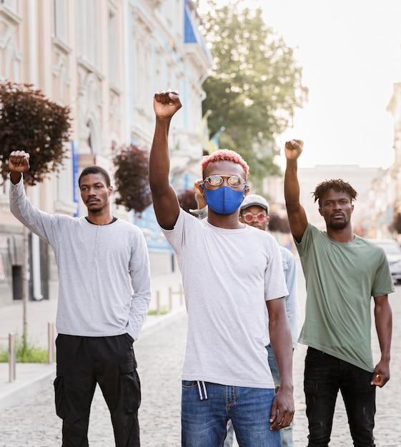 Protest gegen schwarze lebende materie Premium Fotos