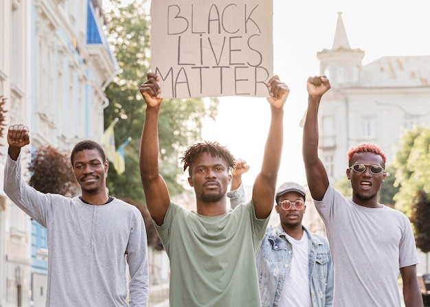 Protest gegen schwarze lebende materie Kostenlose Fotos