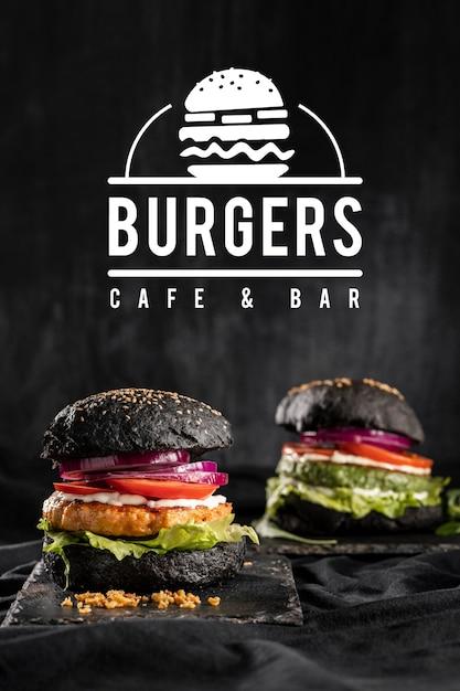 Pub promo mit leckerem burger Kostenlose Fotos