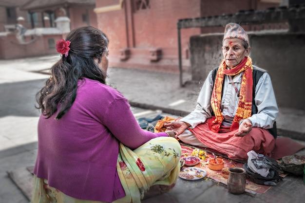 Puja-zeremonie Premium Fotos