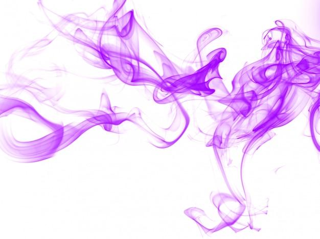 Purpurrote rauchzusammenfassung auf weißem hintergrund Premium Fotos