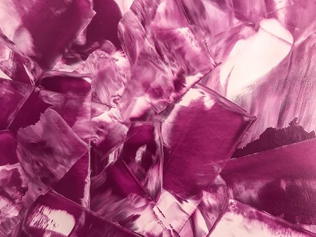 Purpurrote und weiße farben des abstrakten malereikunsthintergrundes. Premium Fotos