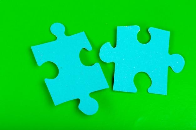 Puzzle-konzept Premium Fotos