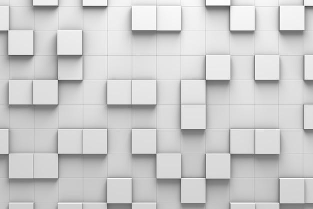 Quadratische fliesen 3d-musterwand Premium Fotos