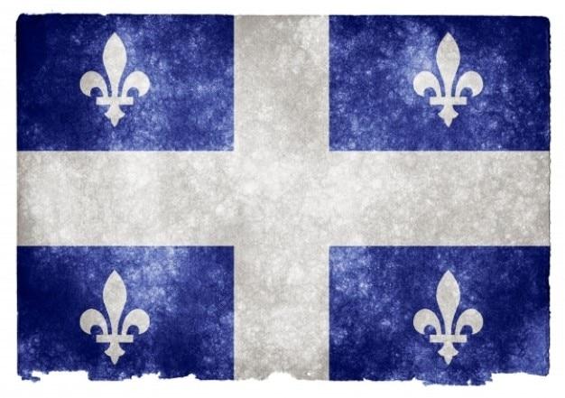 Quebec grunge flag Kostenlose Fotos