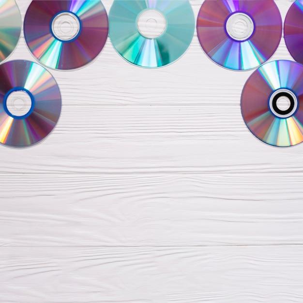 Rahmen mit compact-disks Kostenlose Fotos