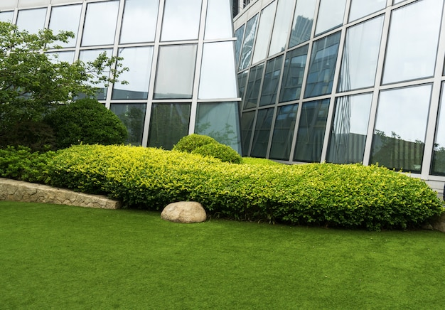 Rasen des finanzplatzes, qingdao, china Premium Fotos