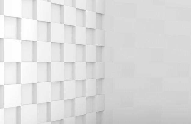 Rasterfeld-flieseneckwand des weißen quadrats der modernen minimalen art Premium Fotos