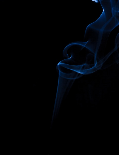 Rauch blau hintergrund schwarz Premium Fotos