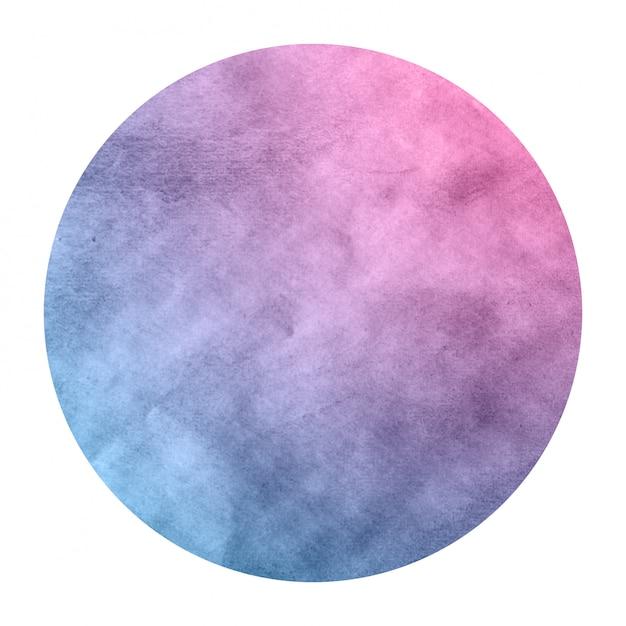 Raum färbt hand gezeichneten aquarellkreisrahmen Premium Fotos