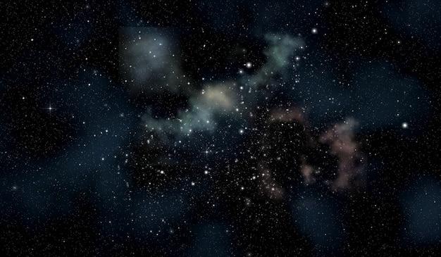 Raum-szene mit sternhaufen im widescreen Kostenlose Fotos