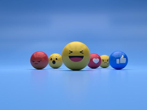 Reaktion emoji Premium Fotos