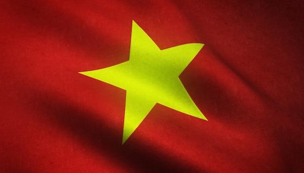 Realistische flagge von vietnam Kostenlose Fotos