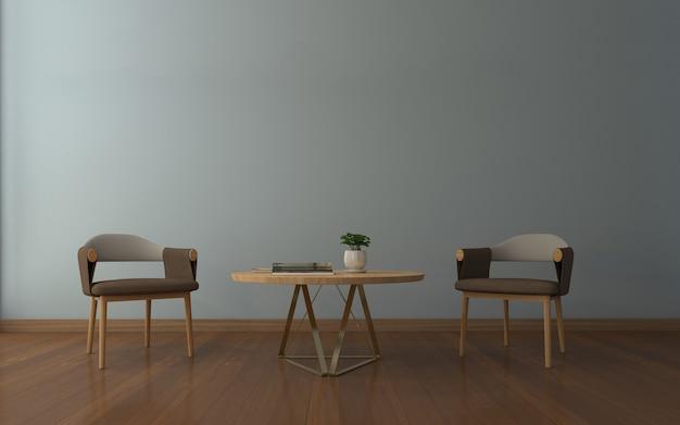 Realistisches modell des wohnzimmers Premium Fotos
