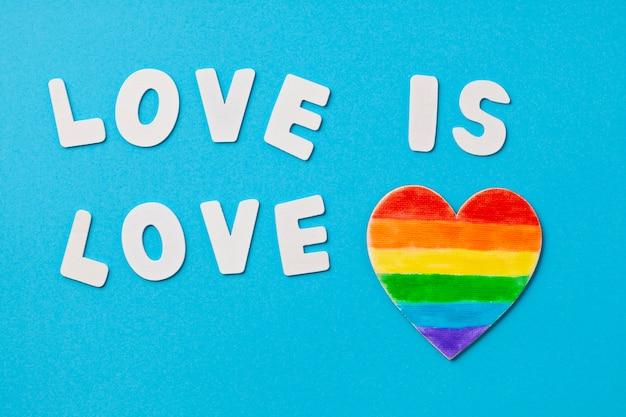 Regenbogenfarbe streift symbol des homosexuellen stolzes lgbt. kopieren sie platz Premium Fotos
