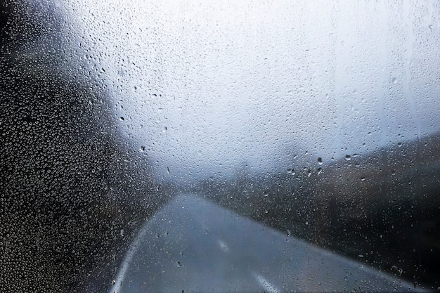 Regeneffekt auf naturhintergrund Kostenlose Fotos