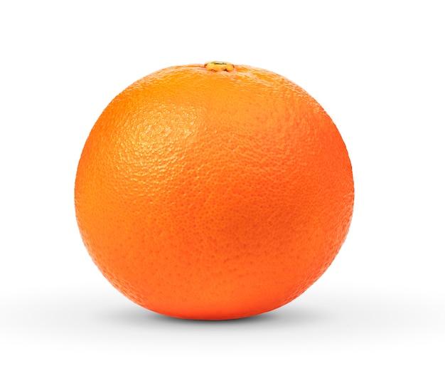 Reife orange isoliert auf weiß Premium Fotos