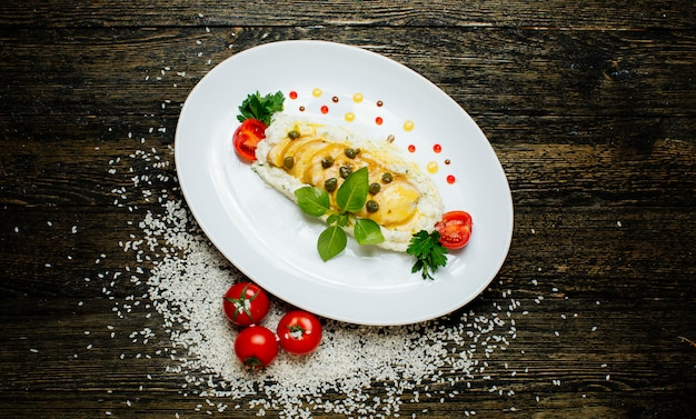 Reisbrei mit bohnen und tomaten Kostenlose Fotos