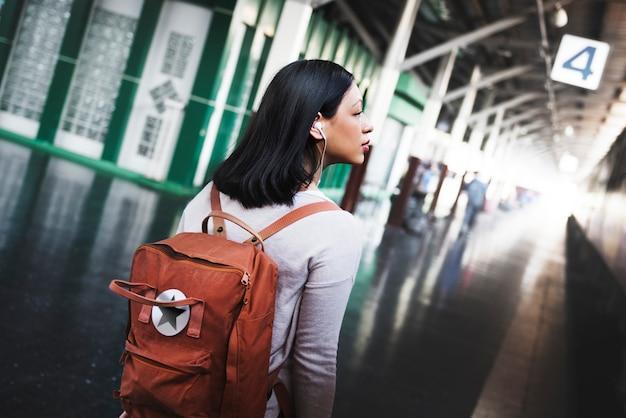 Reise-pendler-bestimmungsort-touristisches konzept Premium Fotos
