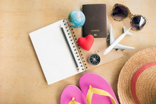 Reiseplan, reiseferien, tourismusmodell Premium Fotos