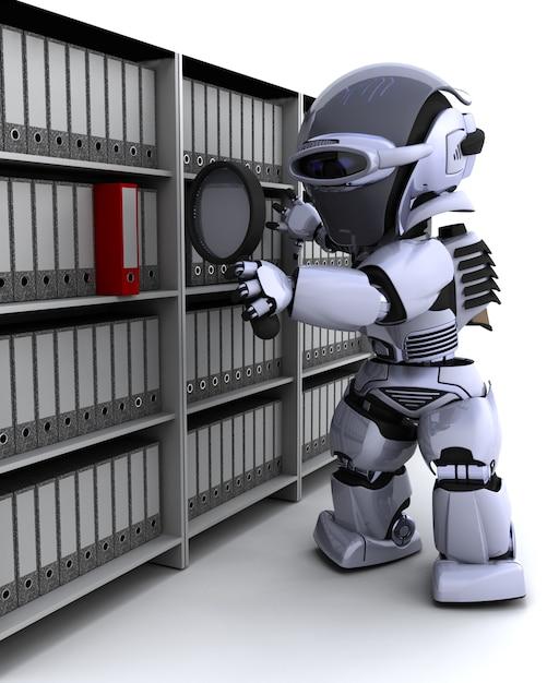 Render-roboter der einreichung der unterlagen 3d Kostenlose Fotos