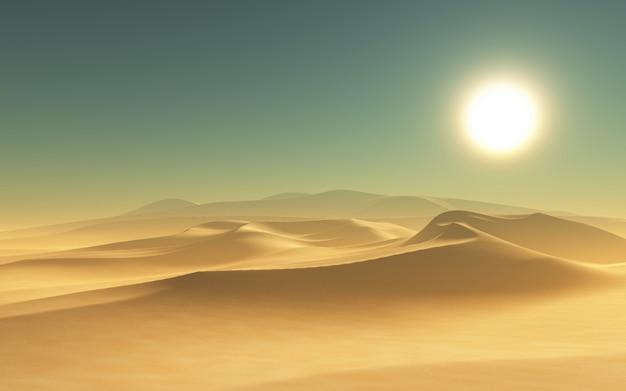 Rendern einer wüste szene 3d Kostenlose Fotos