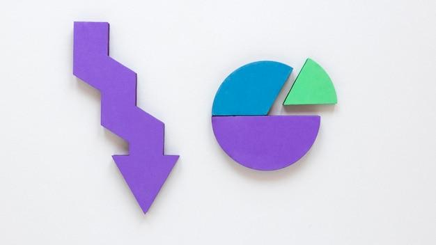 Repräsentativer pfeil für wirtschaft und diagramm Kostenlose Fotos