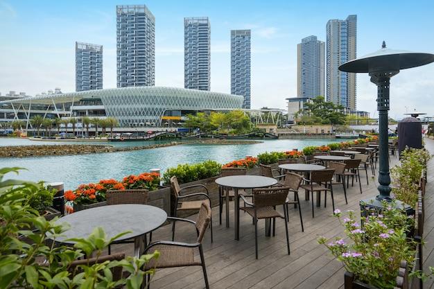 Restaurant im freien im shenzhen-seeweltpark Premium Fotos