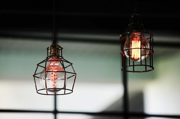 Retro-beleuchtung dekoration. Premium Fotos