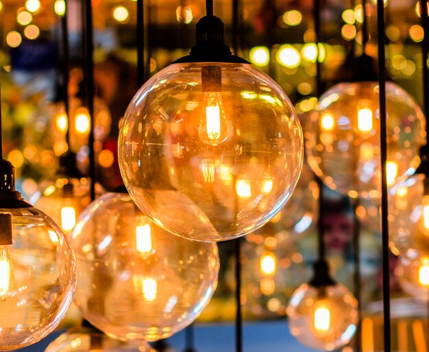 Retro edison lichtdekor Premium Fotos