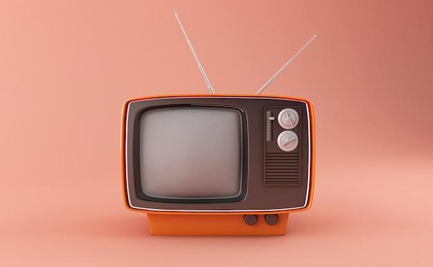 Retro fernsehapparat 3d Premium Fotos