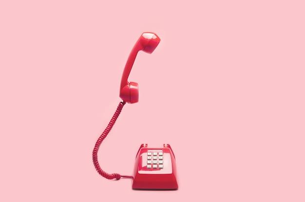 Retro rosa telefon Premium Fotos
