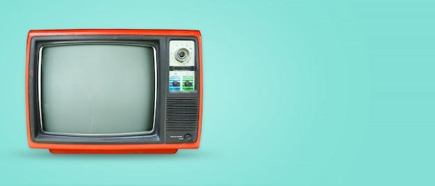 Retro-technologie. flach legen, top-sicht-helden-header. Premium Fotos