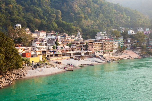 Rishikesh in indien Premium Fotos