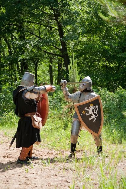 Ritter in rüstung kämpft Kostenlose Fotos