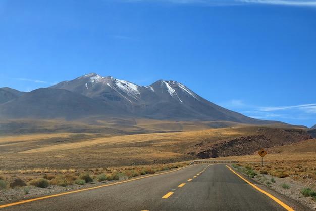 Road trip zur hochland-wüste der atacama-wüste in nordchile, südamerika Premium Fotos