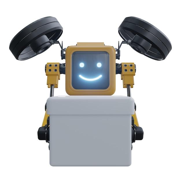 Roboter drohne liefert lieferung. transportroboterdrohne. Premium Fotos