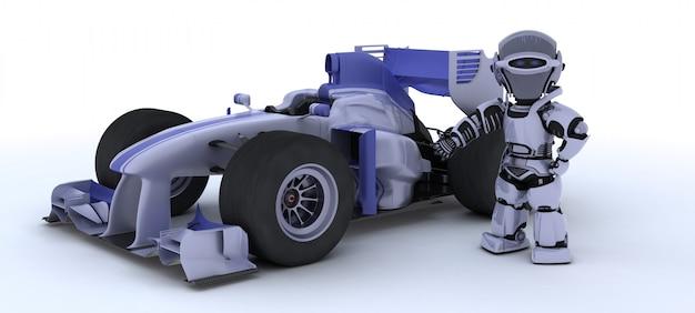 Roboter und ein auto Kostenlose Fotos