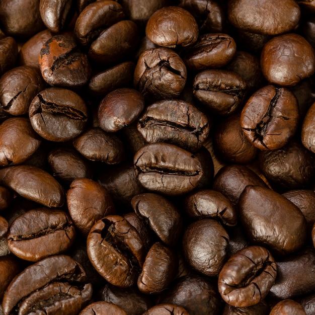 Röstkaffee beacn nah oben Premium Fotos