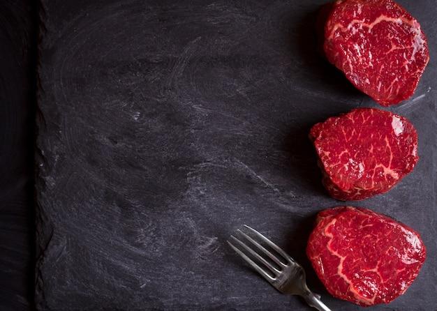Rohe filet-mignon-steaks Premium Fotos