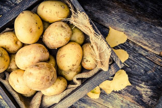 Rohe organische kartoffeln Kostenlose Fotos