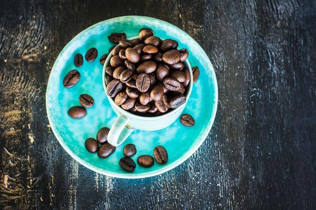 Rohkaffeebohnen Premium Fotos