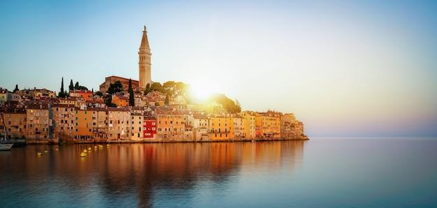 Romantische altstadt von rovinj in kroatien, europa. Premium Fotos
