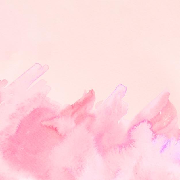 Rosa aquarellbeschaffenheitsstreifen auf beige hintergrund Kostenlose Fotos