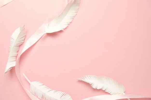 Rosa band im formrosahintergrund Premium Fotos